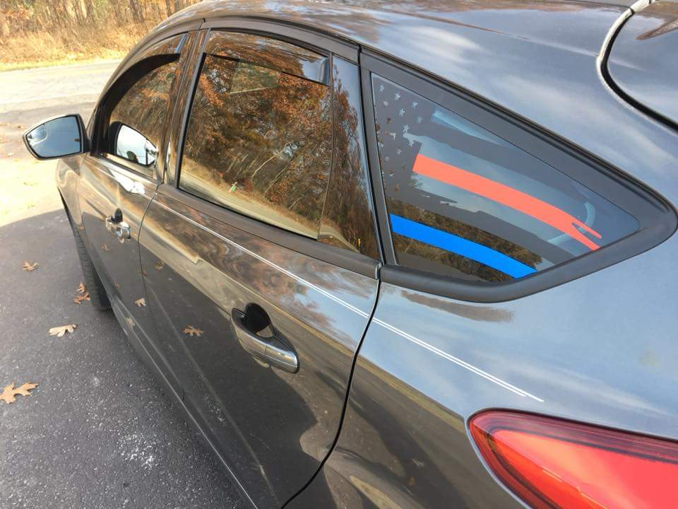 Ford Focus Mk3 Rear Window Decals